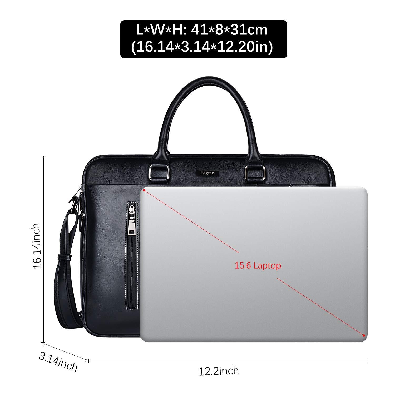 e66003adc9f72 Bageek Herren Umhängetasche Laptoptasche Aktentasche Herren Notebook Tasche  15