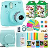 Fujifilm Instax Mini 9 Camera with Fuji Instant Film (40 Sheets) & Accessories Bundle Includes Case