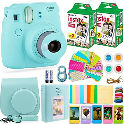 750d81df72 Fujifilm Instax Mini 9 Instant Camera + Fuji Instant Film (40 Sheets) +  Accessories