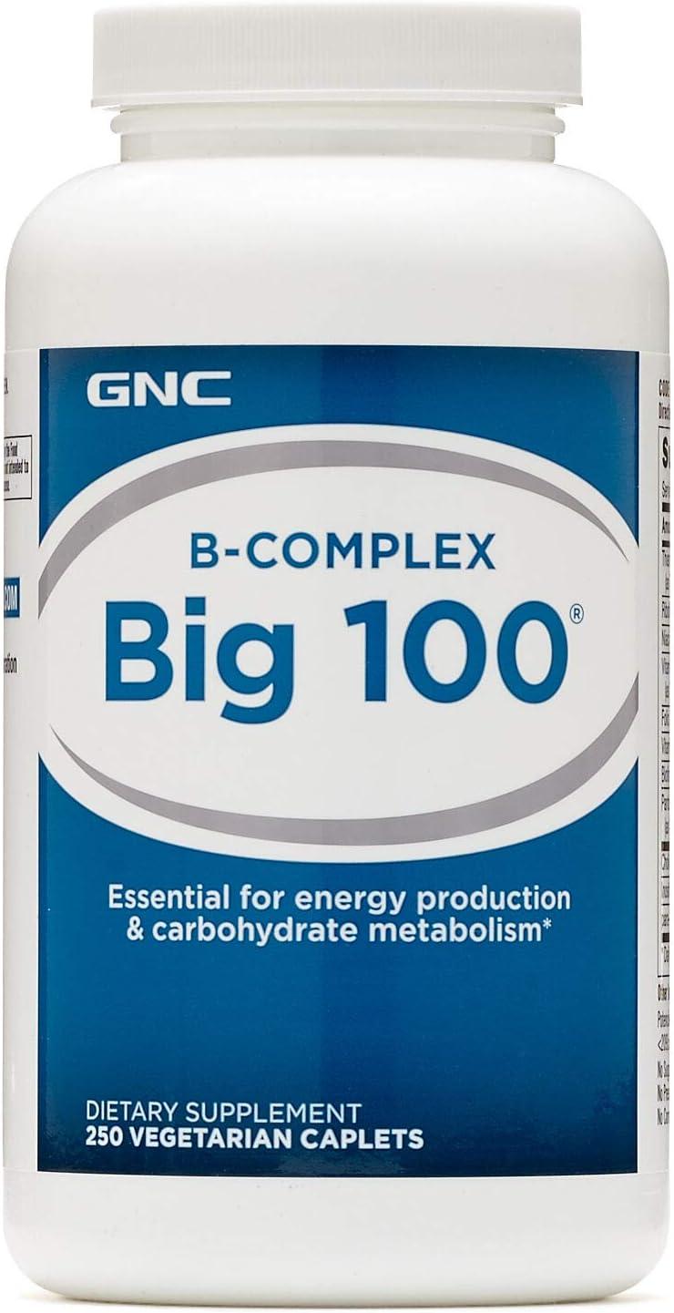 GNC B-Complex Big 100 250 Vegetarian Caplets