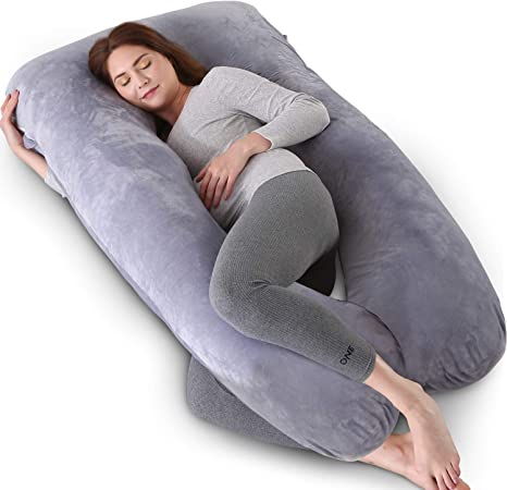 Pregnancy Pillows U-Shaped Full Body Pillow for Sleeping Maternity Pillow with Washable Jersey Cover Nursing Maternity Pillow for Back Hips Legs Belly 57 inches Pregnancy Support Pillow for Women