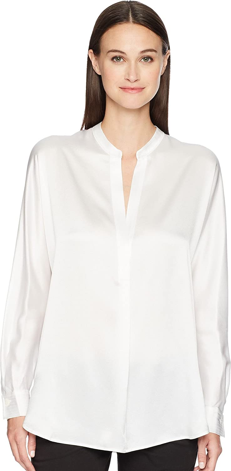 0c1f8adbf68548 Amazon.com  Vince Women s Collar Band Blouse  Clothing