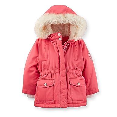 Amazon.com  Carter s Little Girls  Fleece-Lined Parka Jacket  Clothing 6d5c8c439