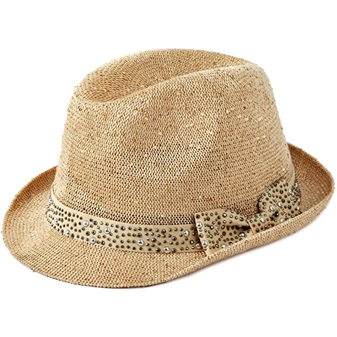 ... sole cappello da sole Cappelli coreano Jazz Cappello a  cilindro Inghilterra retro paillettes cappello paglia cappello fiocco-A  Unica  Amazon.it  ... 5bebf1aac106