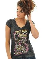 Womens T-Shirt 2K2bt Death 4 Love Noir (S , Noir)