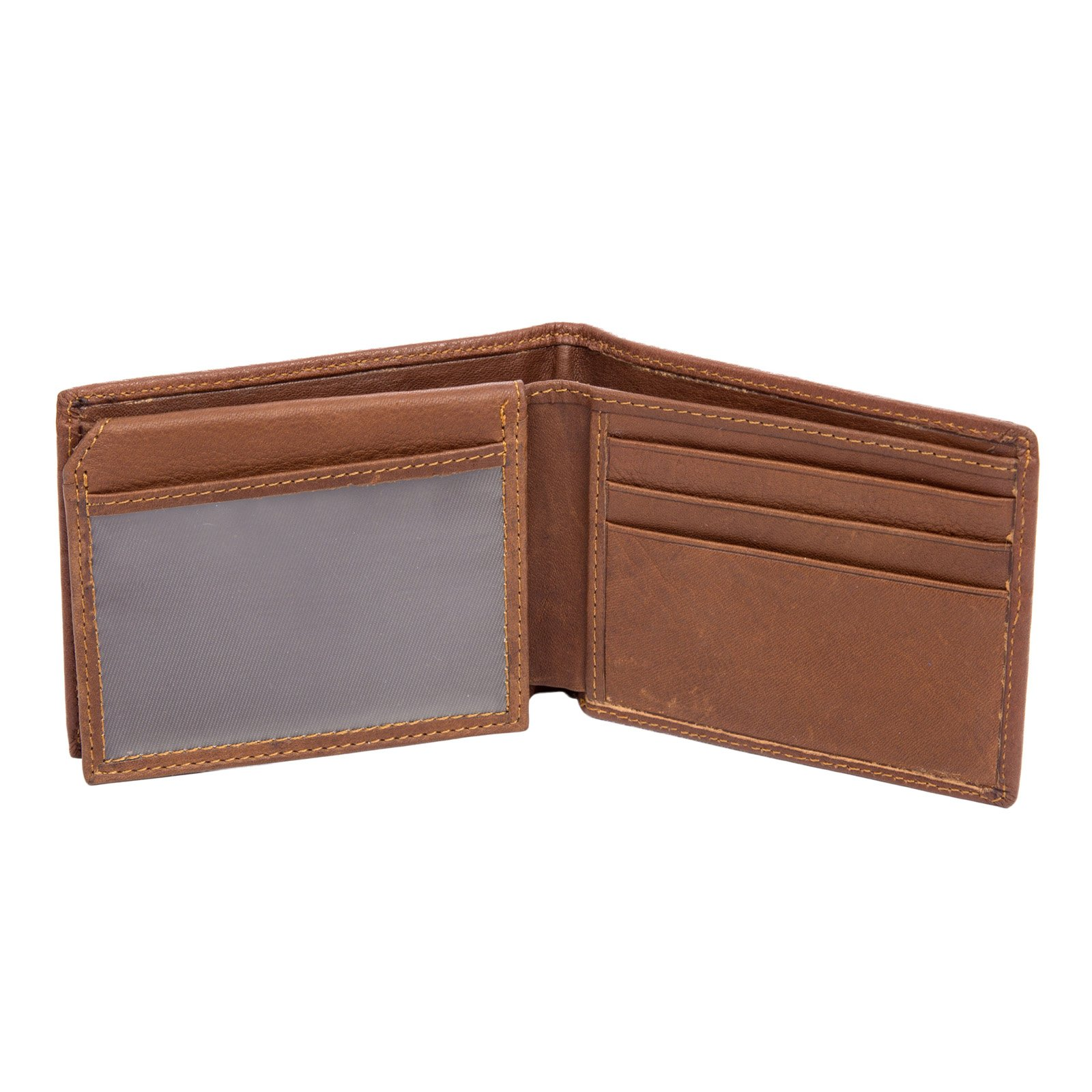 Stylish And Durable Genuine Cow Leather Blocking Wallet for Men Coffee by PAUL JONES