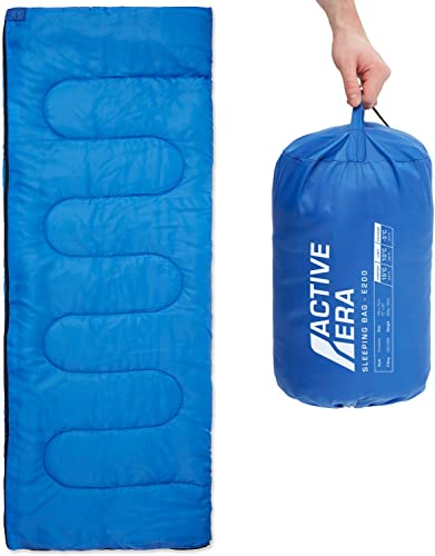 Active Era Sleeping Bag for Indoor and Outdoor use – Lightweight Premium Sleeping Bags for Adults, Kids and Teens – Warm and Water Resistant for Camping, Hiking and Backpacking