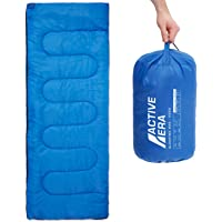Premium Lightweight Single Sleeping Bag – Warm and Water Resistant, Perfect for Indoor Use or Outdoor Camping, Hiking, Fishing & Travelling