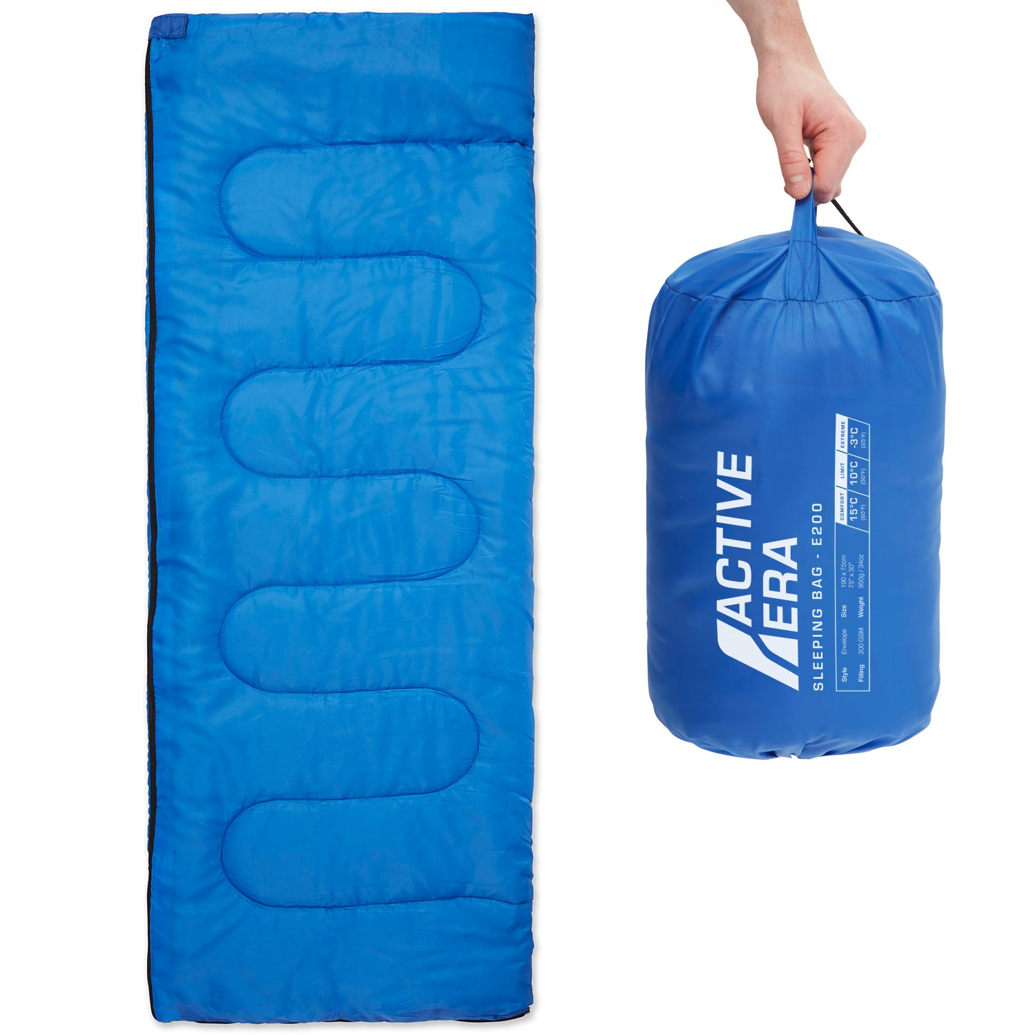 9d8734acd3d Amazon.com   Premium Lightweight Single Sleeping Bag - Warm and Water  Resistant, Perfect for Indoor Use or Outdoor Camping, Hiking, Fishing    Travelling ...
