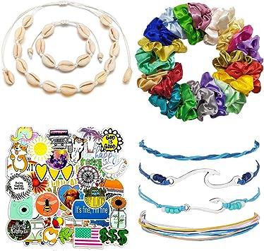 VSCO Girl Stuff Pack – Pulseras de Moda Boho-Chic, Collar de ...