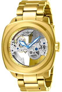 Invicta Mens Aviator Automatic-self-Wind Stainless-Steel Strap, Gold, 24
