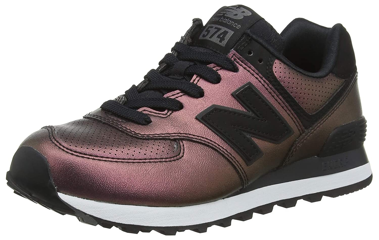 New Balance Wl574, Metallic Bottes Classiques Femme Femme Noir Classiques (Black/Champagne Metallic Nubuck) bf7cf2a - deadsea.space