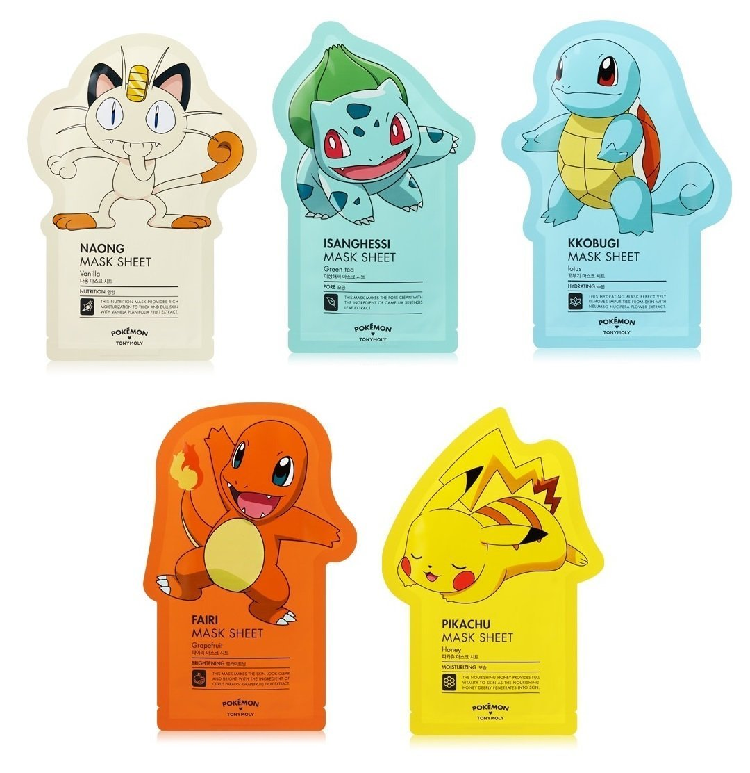 Tonymoly Pokemon Sheet Mask Pack (5 sheets)