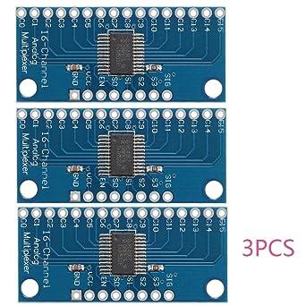 3pcs CD74HC4067 Módulo de la placa de desglose del multiplexor digital de 16 canales de Digitaces