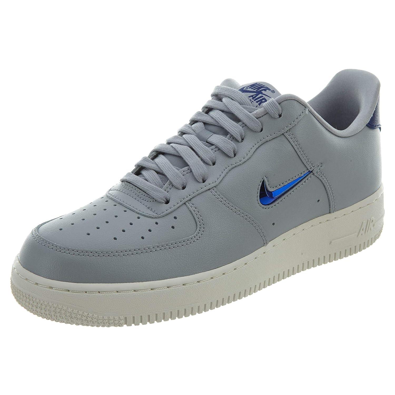 MultiFärg (Wolf grå  Deep Royal blå blå blå  Summit vit 002) Nike herrar Air Force 1'07 Lv8 Lthr Fitness skor  tidlös klassiker