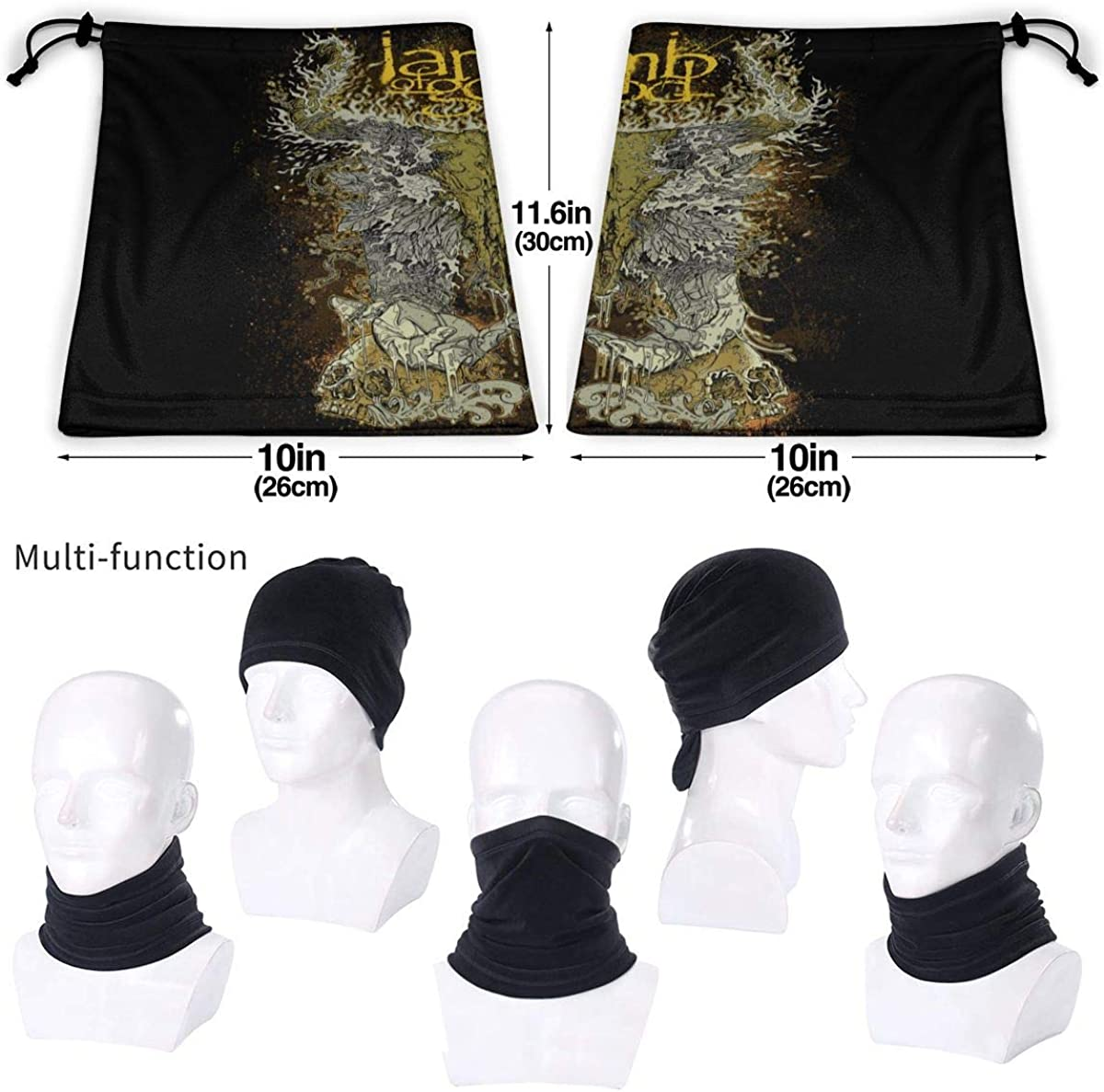 Lamb Of God Highly Elastic Warm Microfiber Neck Thermal Mask Scarf Unisex Windproof Suitable For Winter