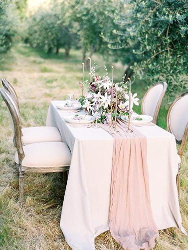 Amazon.com: Table runner Cheesecloth Gauze Muslin Rustic Wedding ...