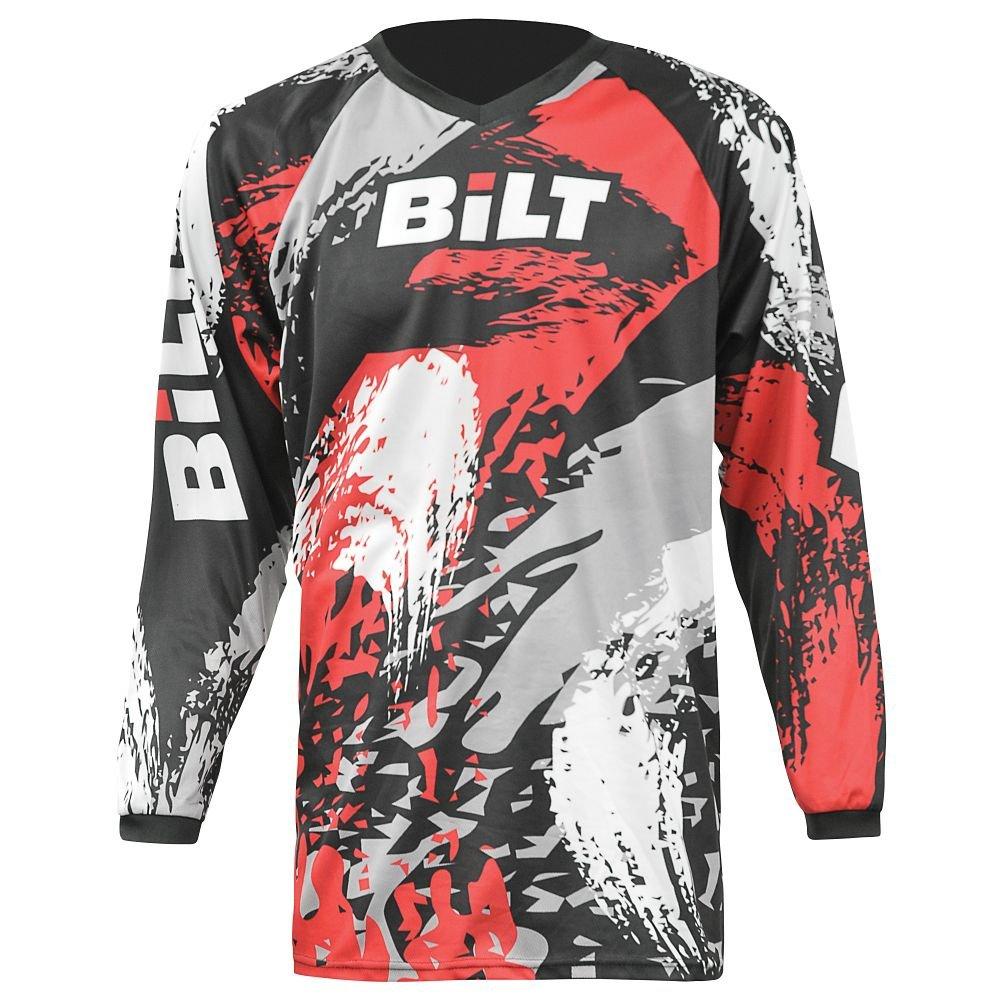 BILT Kid's Amped Off-Road Motorcycle Jersey - XS, Black/Red