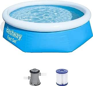 Bestway Fast Pool Set 244x66 cm, mit Filterpumpe Piscina (244 x 66 cm, con Bomba de Filtro), Azul: Amazon.es: Juguetes y juegos