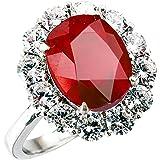 One&Only Jewellery 【鑑別書付】 一生物 超大粒 5ct 天然 ルビー リング 指輪 K18GP 宝石の女王 7月誕生石 (13号)
