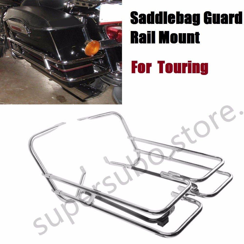 Saddlebag Guard Rail Mount For Harley Touring Road King Electra Street Glide Happy-motor