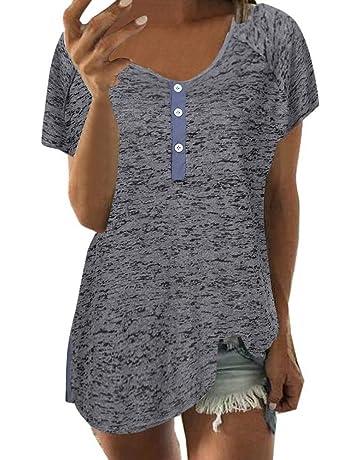 9523e0b387d AOJIAN T Shirt Women Short Sleeve Shirts Blouse Tanks Vest Tops