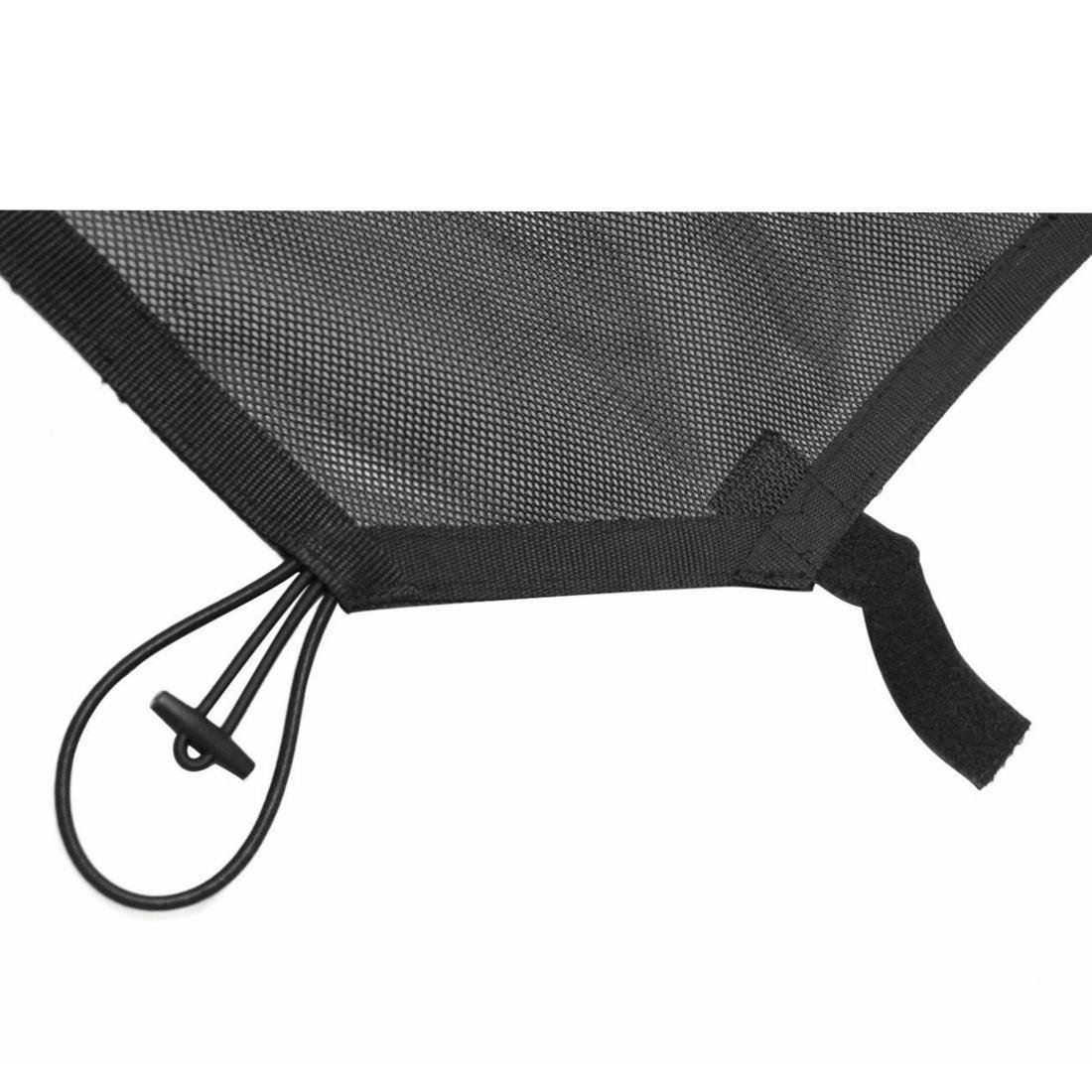 AVOMAR Black Eclipse Sunshade Mesh Sun Shade Full Top Cover UV Protection with Storage Pockets for 2007-2017 Jeep Wrangler JK /& Unlimited 4 Door Black with Logo