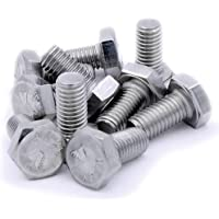 M10(10mm x 20mm) hexagonal tornillos (totalmente roscados))–acero inoxidable
