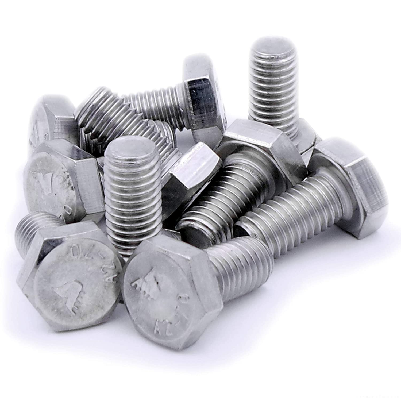 lot de 10 A2 hexagonale Boulons / Enti/èrement filet/ée Tige filet/ée /en acier inoxydable 10/mm X 20/mm M10/