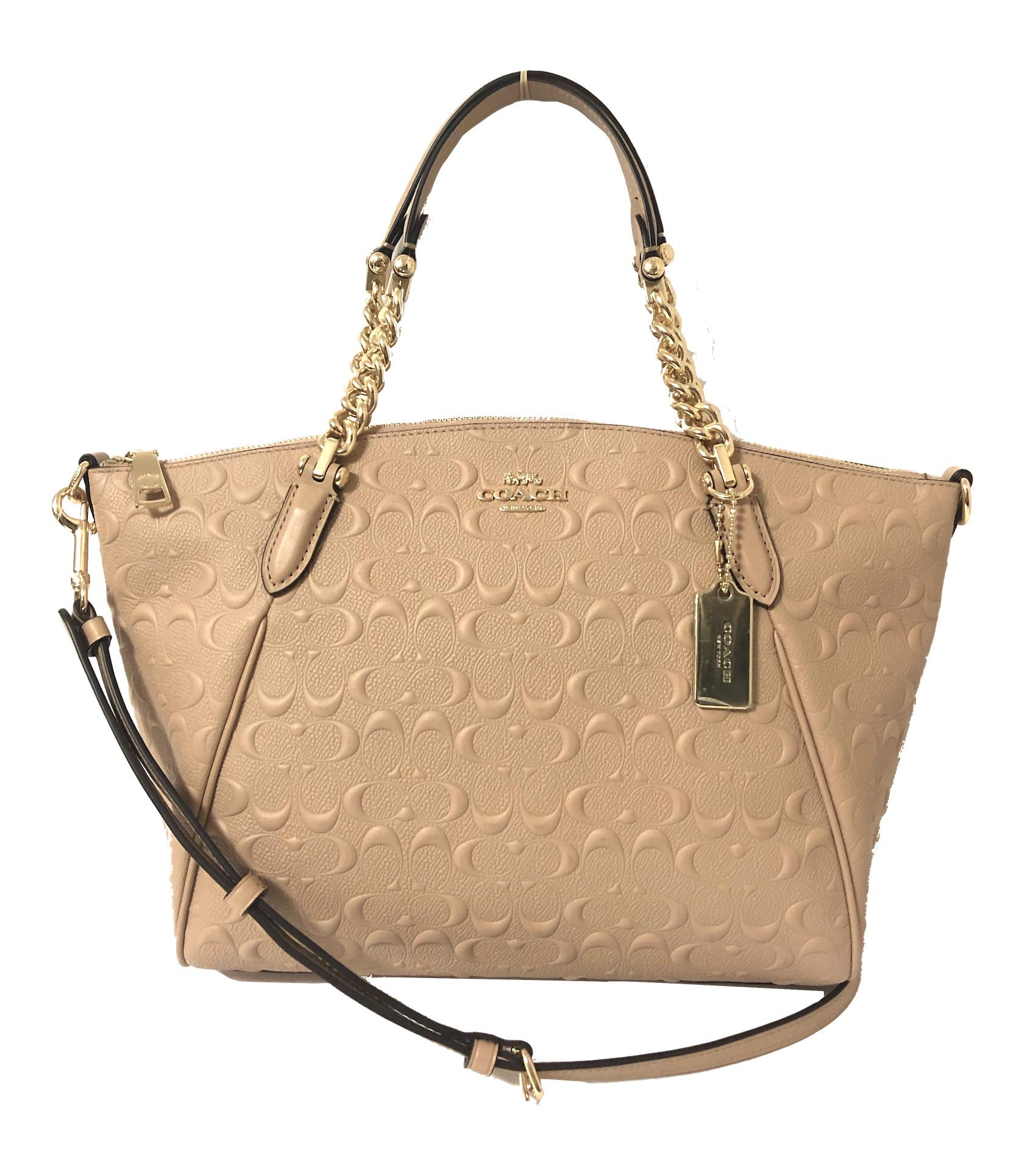 Coach Leather Small Kelsey Cross Body Bag (Small, IM/Beechwood Chain)