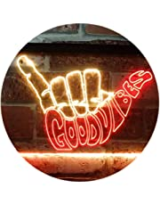 Good Vibes Only Hand Party Decoration Dual Color LED Neon Sign st6-i1076
