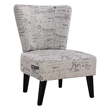 Pleasing Giantex Armless Accent Chair Dining Chair Living Room Chair Home Furniture With Upholstered Seat And Wood Legs Gmtry Best Dining Table And Chair Ideas Images Gmtryco