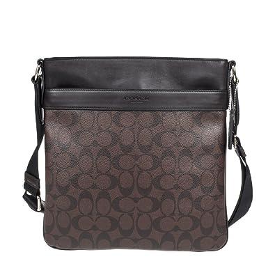 Amazon.com  Coach men s PVC Handbag Crossbody F54781 (Brown)  Shoes abf8fff81fe54