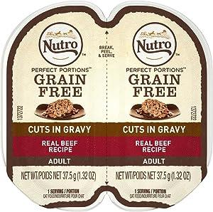 Nutro 79105123112 Perfect Portions Cuts in Gravy Beef Recipe Cat Food44; 24ea & 2.65 oz