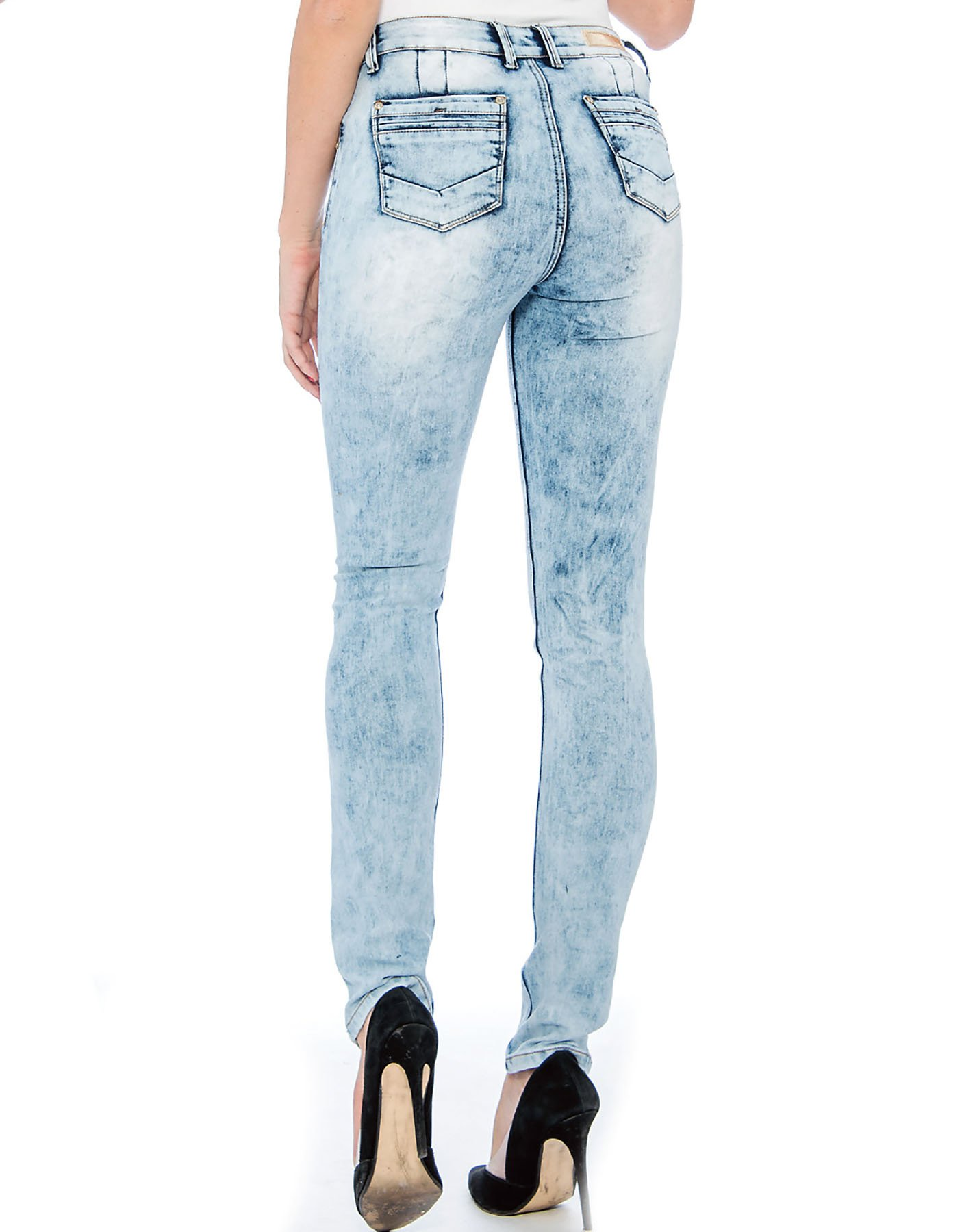 Rebel Love Juniors Mid Rise Distressed Jeans by 9 Crowns-7/8 by 9 Crowns (Image #3)