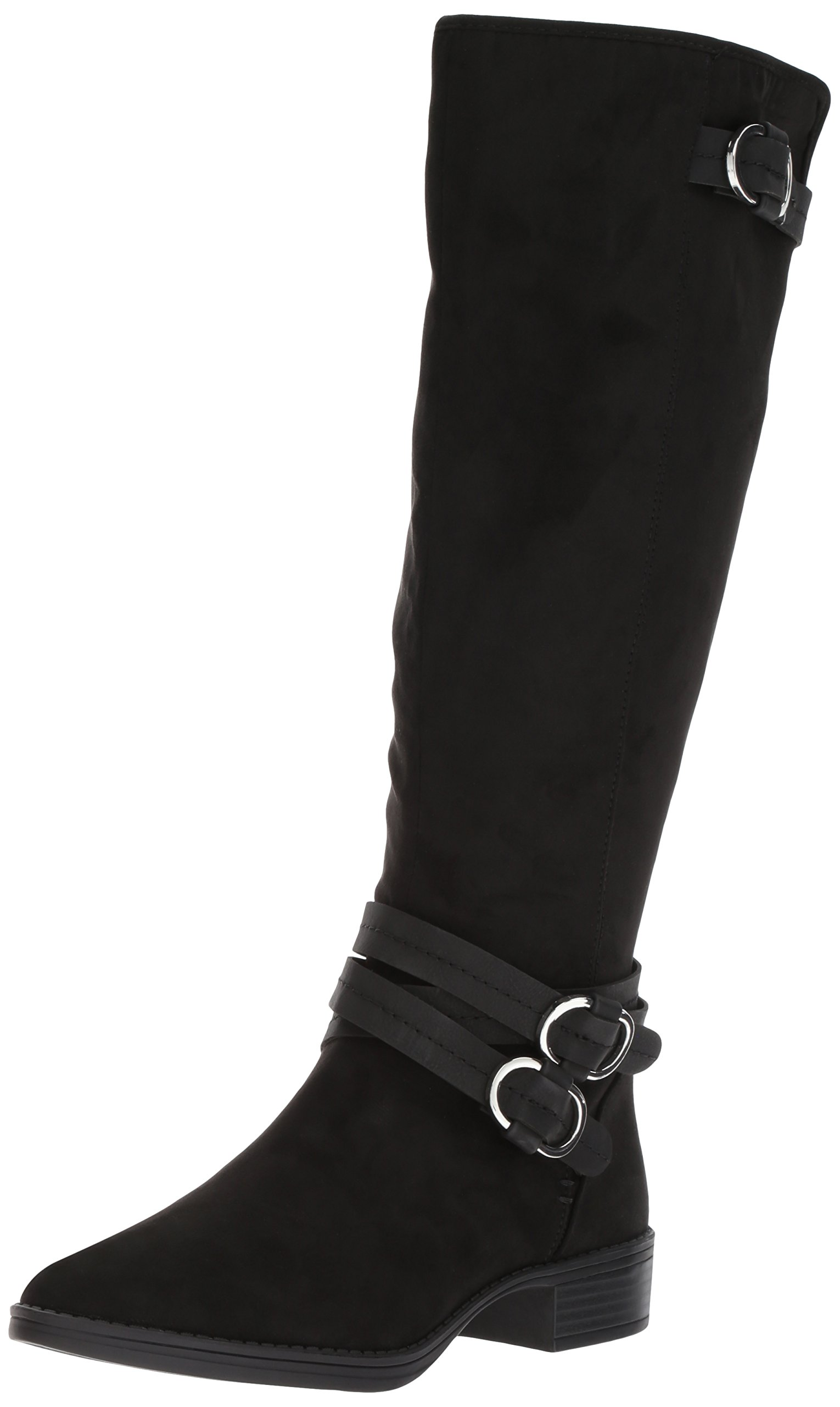 Circus by Sam Edelman Women's Prairie Equestrian Boot, Black, 7.5 Medium US by Circus by Sam Edelman