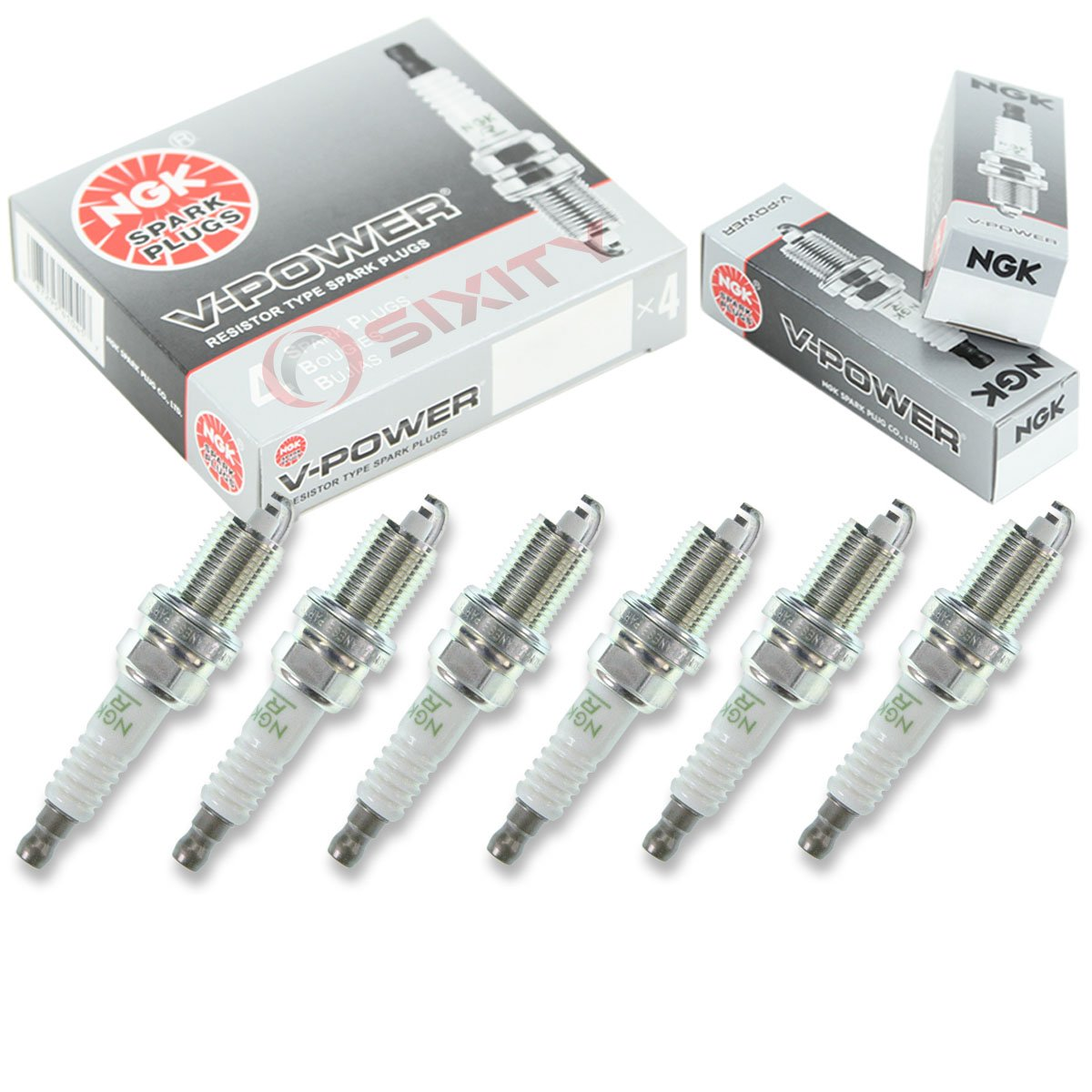 Amazon.com: NGK V-Power 6pcs Spark Plugs Jeep Liberty 02-12 3.7L V6 Kit Set Tune Up: Automotive