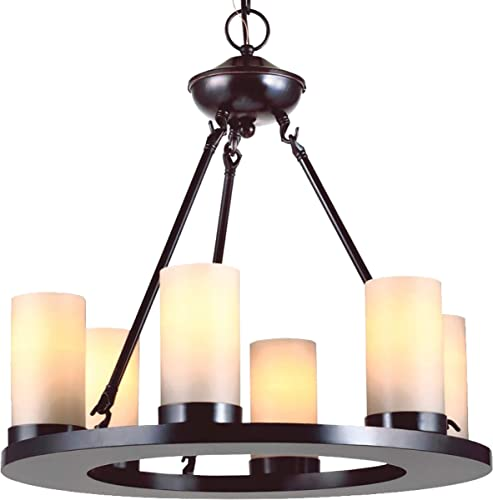 Sea Gull Lighting 31586-710 Ellington Six Light Chandelier, Burnt Sienna Finish