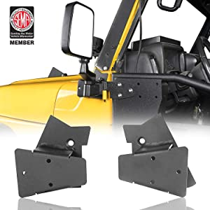 Hooke Road Wrangler Doors Off Mirror Mounting Brackets Campatible with Jeep TJ Wrangler 1997 1998 1999 2000 2001 2002 2003 2004 2005 2006 - Pair