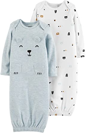 de44279102e4 Amazon.com  Carter s Baby Boys 2-pk. Bear Sleeper Gowns  Clothing
