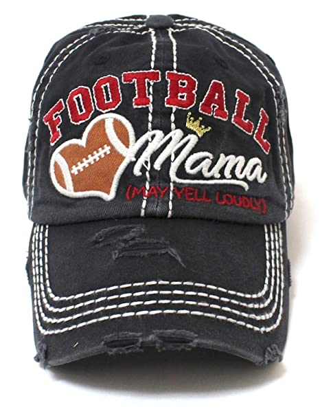 CAPS  N VINTAGE Women s Baseball Cap Football Mama Cheer Queen Hat ... 2ad903fc0b7