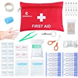 Small Travel First Aid Kit - 76 Piece Clean, Treat and Protect Most Injuries,Ready for Emergency at Home, Outdoors, Car, Camping, Workplace, Hiking.