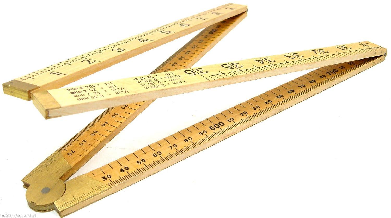 NEW FOLDING RULER YARD STICK RULE METRE MEASURING 3FT 1M
