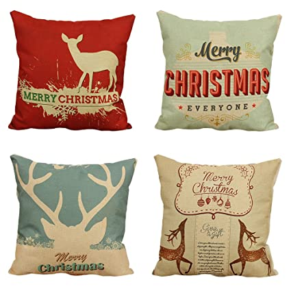 christmas pillow case covers 18 x 18 inch decorative pillow covers 4 pack create fun