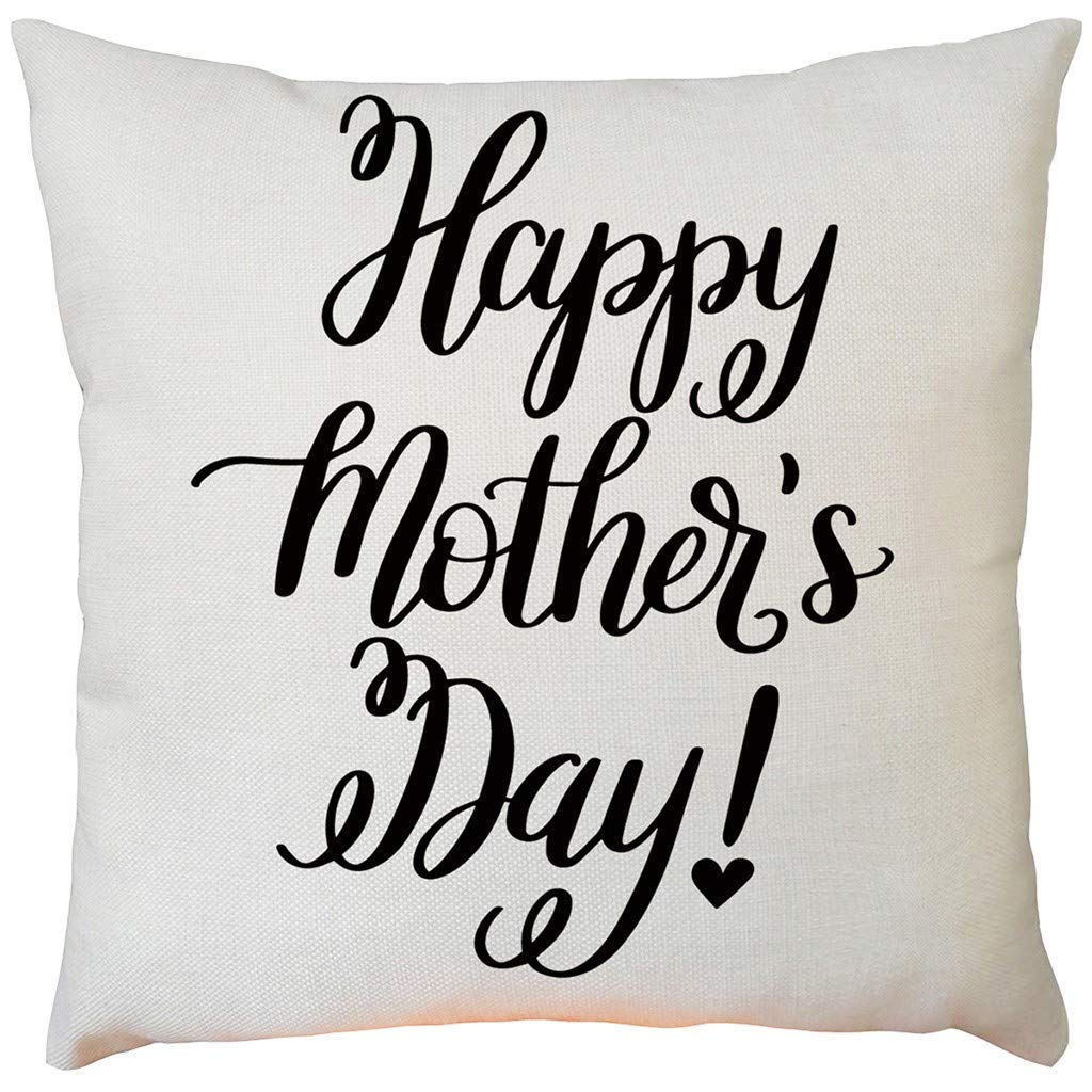 Pillow case Protector with Zipper,EOWEO Happy Mother's Day Sofa Bed Home Decoration Festival Pillow Case Cushion Cover(43cm×43cm,B)
