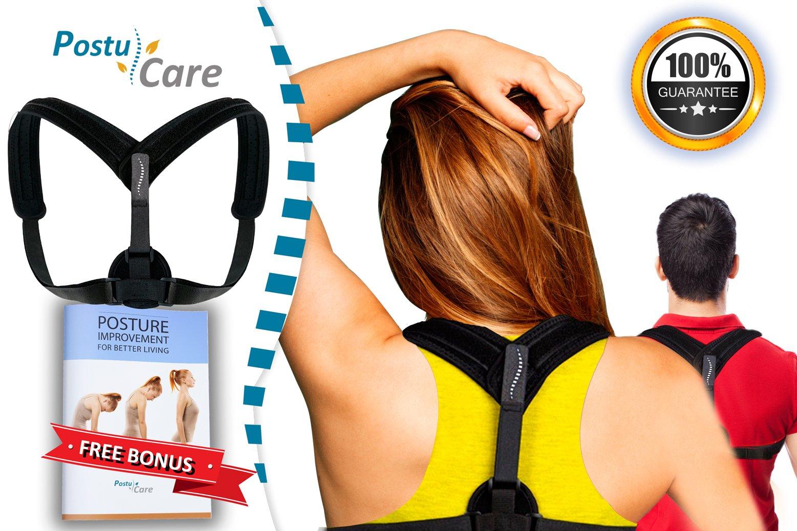 Adjustable Posture Corrector Back Brace for Women & Men Clavicle Brace,Improve Thoracic Kyphosis, Shoulder Support, by Postu Care