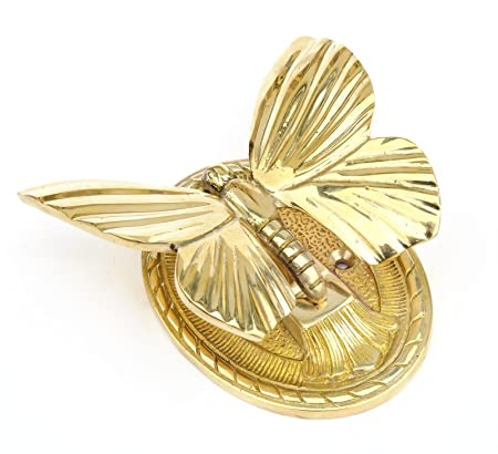 Solid Brass Butterfly Door Knocker