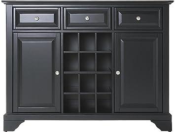 Crosley Furniture LaFayette Wine Buffet / Sideboard   Black