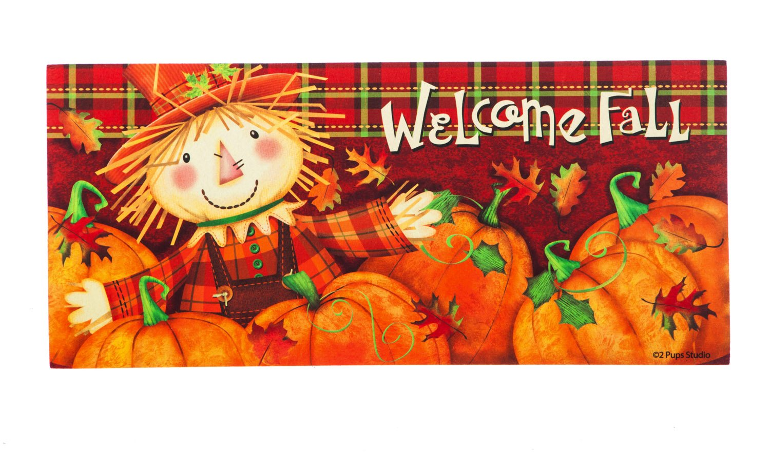 Evergreen Scarecrow Decorative Mat Insert, 10 x 22 inches by Evergreen Flag