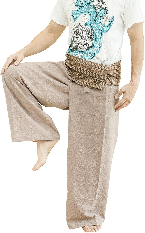 BohoHill Fisherman Pants Patterned Waist Yoga Trousers